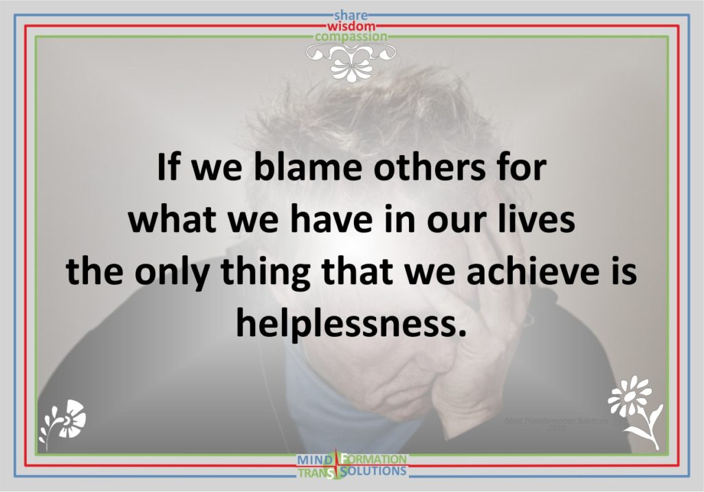 Blaming others